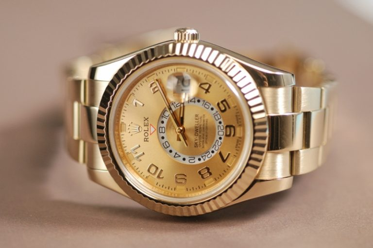 MejorRelojes-Rolex-Sky-Dweller-Champagne-Dial-GMT-Replica