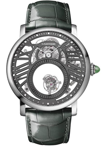 Replica De Reloj Rotonde de Cartier Mysterious Skeleton Double Tourbillon